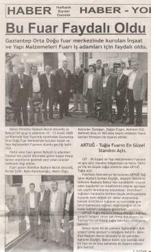 Haber Gazetesi - Aralık 2009